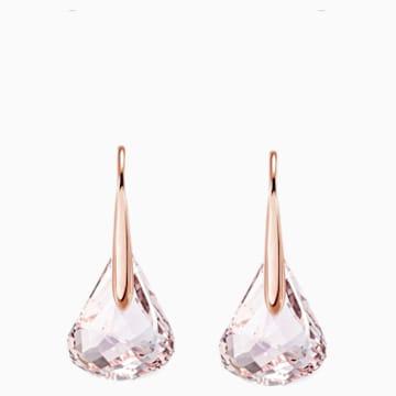 Boucles d'oreilles Lunar, rose, Métal doré rose - Swarovski, 5528509