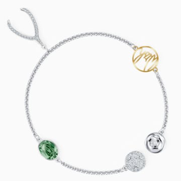 Strand Swarovski Remix Collection Wishbone, verde, placcato rodio - Swarovski, 5528718