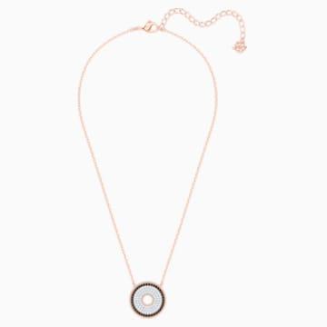 Collier Lollypop, noir, Métal doré rose - Swarovski, 5528723