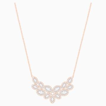 Collana Baron, bianco, placcato oro rosa - Swarovski, 5528751