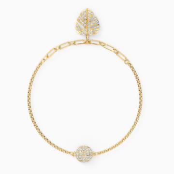Swarovski Remix Collection Tropical Leaf Strand, Белый Кристалл, Покрытие оттенка золота - Swarovski, 5528850