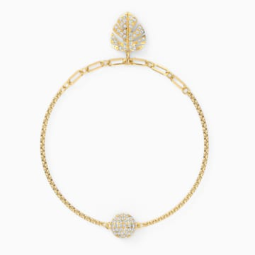 Swarovski Remix Collection Tropical Leaf Strand, White, Gold-tone plated - Swarovski, 5528850