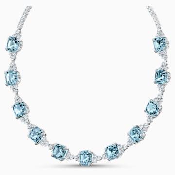 Sparkling 項鏈, 海藍色, 鍍白金色 - Swarovski, 5528875