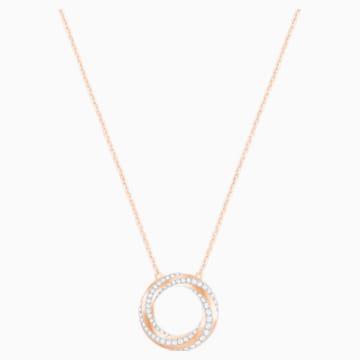 Collier Hilt, blanc, Métal doré rose - Swarovski, 5528930