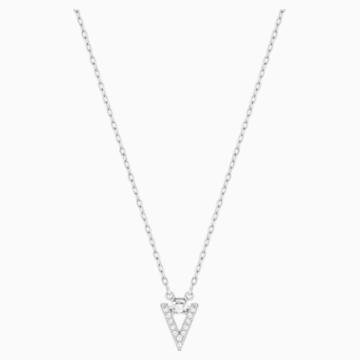 Funk 项链, 白色, 镀铑 - Swarovski, 5528933