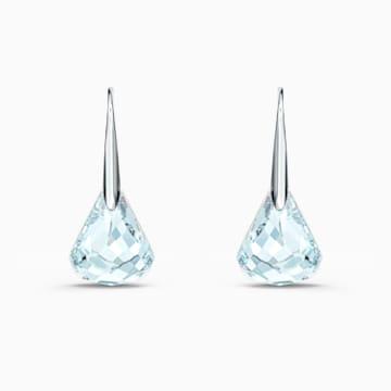Spirit Pierced Earrings, Aqua, Rhodium plated - Swarovski, 5529138