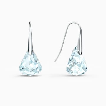 Boucles d'oreilles Spirit, aiguemarine turquoise, métal rhodié - Swarovski, 5529138