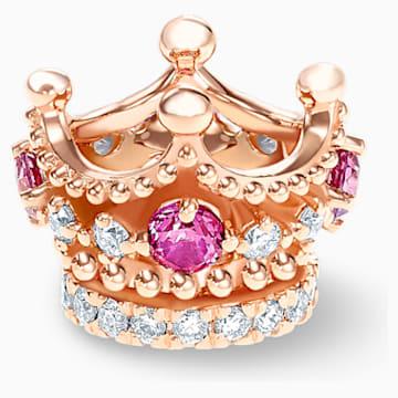 女王宣言18K玫瑰金粉红蓝宝石钻石链坠 - Swarovski, 5529702