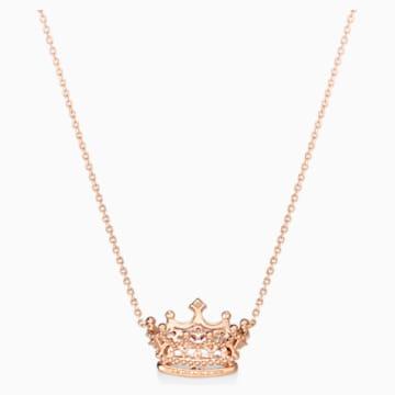 女王宣言18K玫瑰金粉红蓝宝石钻石项链 - Swarovski, 5529705