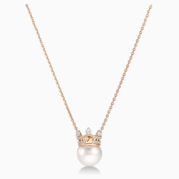 18K RG Queen of Chic Necklace (Pearl) - Swarovski, 5529712