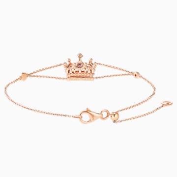 女王宣言18K玫瑰金粉红蓝宝石钻石手链 - Swarovski, 5529713