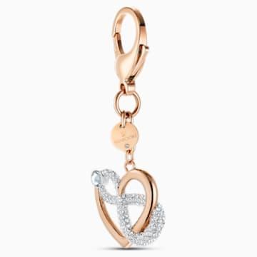 Accessorio per borse Infinite, bianco, placcato color oro rosa - Swarovski, 5530885