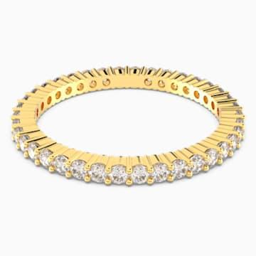 Vittore 戒指, 白色, 鍍金色色調 - Swarovski, 5530902