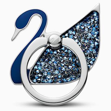 Anneau autocollant Swan, bleu, acier inoxydable - Swarovski, 5531511
