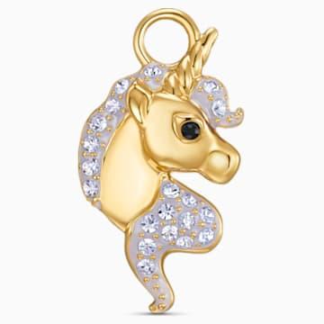 Out of this World Unicorn Charm, 紫羅蘭, 鍍金色色調 - Swarovski, 5531527