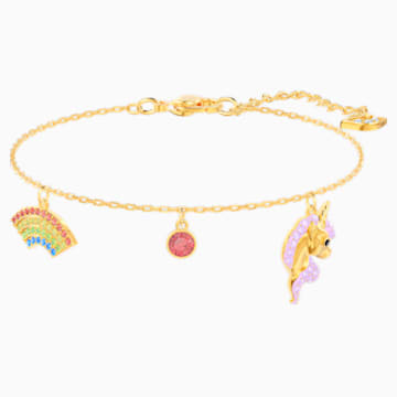 Braccialetto Out of this World Unicorn, multicolore, Placcato oro - Swarovski, 5531531