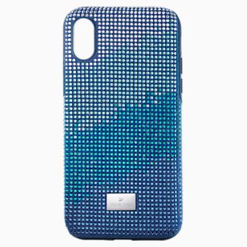 Crystalgram Smartphone Schutzhülle mit Stoßschutz, iPhone® X/XS, blau - Swarovski, 5532209