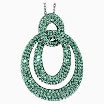 Tigris Pendant, Green, Ruthenium plated - Swarovski, 5532486