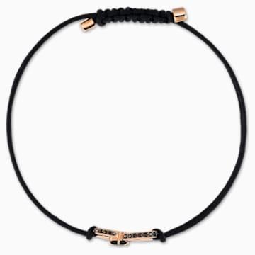 Náramek Swarovski Infinity, černý, pozlacený růžovým zlatem - Swarovski, 5533721