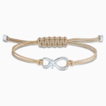 Swarovski Infinity Bileklik, Bej, Rodyum kaplama - Swarovski, 5533725