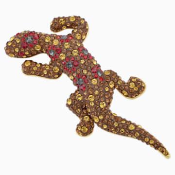 Spilla Mustique Sea Life Geko, marrone, placcato color oro - Swarovski, 5533739