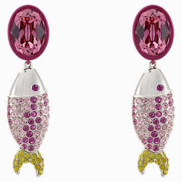Orecchini Mustique Sea Life Fish, rosa, placcato palladio - Swarovski, 5533745