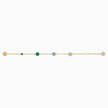 Strand Swarovski Remix Collection Pop, verde, placcato color oro - Swarovski, 5533846