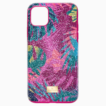 Tropical Smartphone Case with Bumper, iPhone® 11 Pro Max, Dark multi-coloured - Swarovski, 5533963