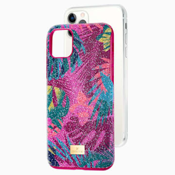 Tropical Smartphone Case with Bumper, iPhone® 11 Pro Max, Dark multi-colored - Swarovski, 5533963