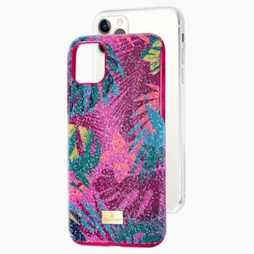 Tropical Smartphone Schutzhülle mit Stoßschutz, iPhone® 11 Pro Max, mehrfarbig dunkel - Swarovski, 5533963
