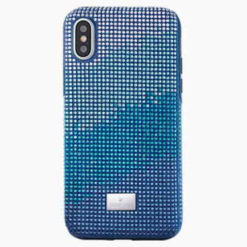 Husă cu protecție pentru smartphone Crystalgram, iPhone® XS Max, albastră - Swarovski, 5533972