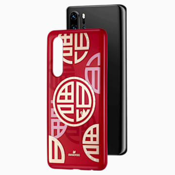 Full Blessing Fu Smartphone Case with Bumper, Huawei® P30, Red - Swarovski, 5533975