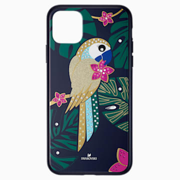 Tropical Parrot Smartphone Case with Bumper, iPhone® 11 Pro Max, Dark multi-colored - Swarovski, 5533976