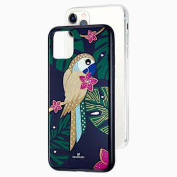 Tropical Parrot Smartphone Case with Bumper, iPhone® 11 Pro Max, Dark multi-coloured - Swarovski, 5533976