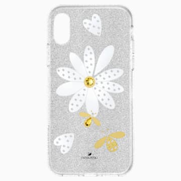 Eternal Flower Smartphone Case with Bumper, iPhone® XS Max, Light multi-coloured - Swarovski, 5533978