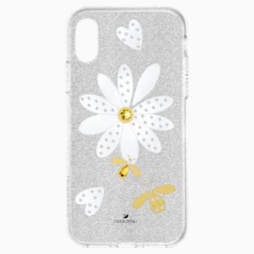 Eternal Flower Smartphone Schutzhülle mit Stoßschutz, iPhone® XS Max, mehrfarbig hell - Swarovski, 5533978