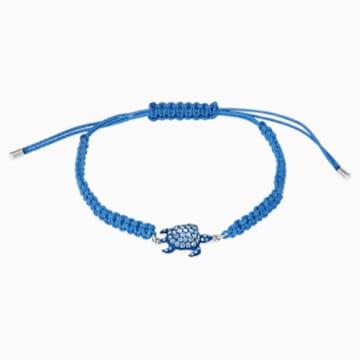 Mustique Sea Life Turtle 手链, 蓝色, 镀钯 - Swarovski, 5534342