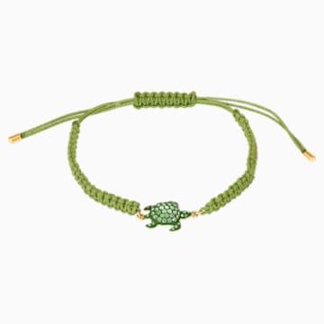 Mustique Sea Life Turtle Armband, grün, vergoldet - Swarovski, 5534344