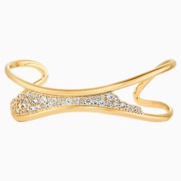 Gilded Treasures Cuff, White, Gold-tone plated - Swarovski, 5534421