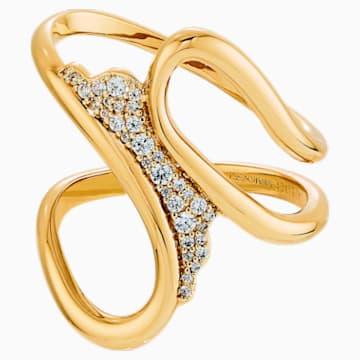 Gilded Treasures Scarf Ring, White, Gold-tone plated - Swarovski, 5534504