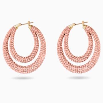 Orecchini a cerchio Tigris, rosa, placcato color oro - Swarovski, 5534512