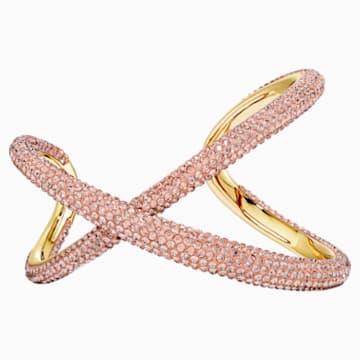 Tigris 闊手鐲, 粉紅色, 鍍金色色調 - Swarovski, 5534535