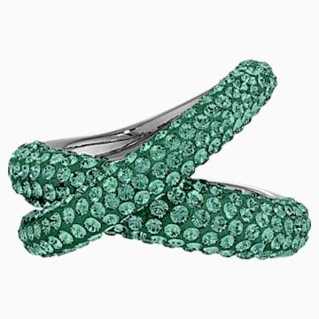 Bague Tigris, vert, métal plaqué ruthénium - Swarovski, 5534541