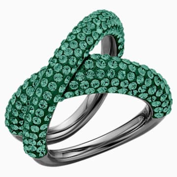 Tigris Ring, Green, Ruthenium plated - Swarovski, 5534541