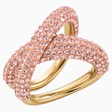 Tigris 戒指, 粉紅色, 鍍金色色調 - Swarovski, 5534544