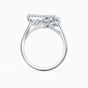 Dancing Swan Ring, weiss, rhodiniert - Swarovski, 5534842
