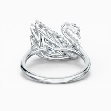 Bague Dancing Swan, blanc, métal rhodié - Swarovski, 5534844