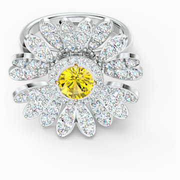 Anillo Eternal Flower, amarillo, combinación de acabados metálicos - Swarovski, 5534936