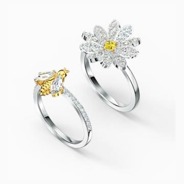 Parure de bagues Eternal Flower, jaune, finition mix de métal - Swarovski, 5534937