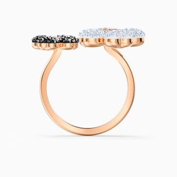 Latisha Ring, Black, Rose-gold tone plated - Swarovski, 5534944